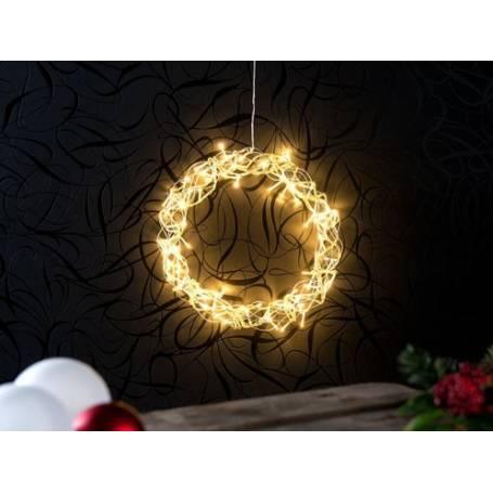 Couronne décorative led 30 cm
