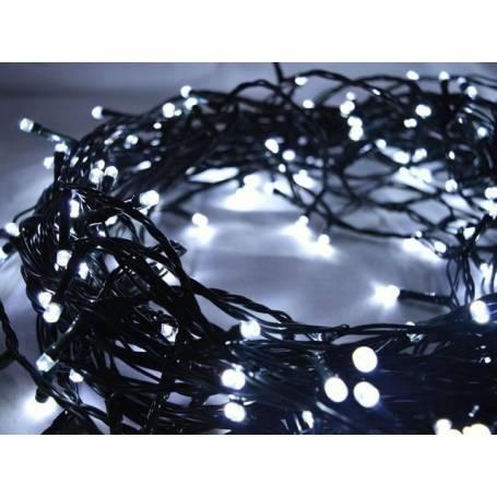 Guirlande lumineuse led 8 mètres blanc froid câble vert professionnelle