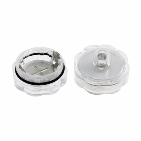 Lot de 10 lampions LED submersible blanc froid à piles professionnel