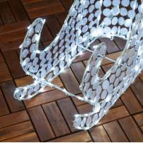 Traineau lumineux 60CM 120 LED blanc froid fixe cristal extérieur professionnel