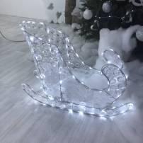 Traineau lumineux du père noël 60CM 120 LED blanc froid professionnel