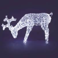 Renne lumineux qui broute 80CM 200 LED blanc froid professionnel