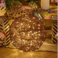 Sphère lumineuse mètal câble cuivre 160 LED blanc chaud professionnel