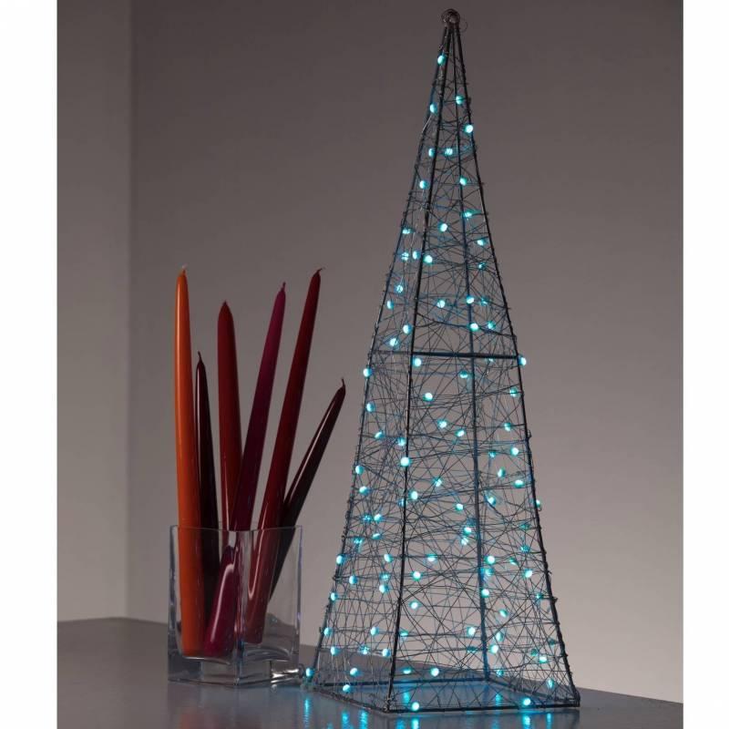 Pyramide lumineuse LED RGB multicolore télécommande extérieur professionnel