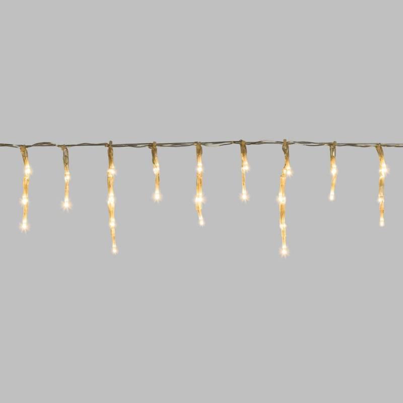 Guirlande mini stalactite 10M H12CM 550 LED blanc chaud cable blanc professionnel