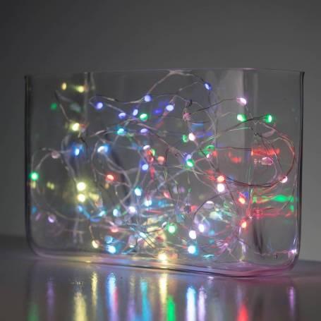 Guirlande 12 couleurs RGB télécommande 6 programmes 20M 200 Micro LED professionnelle professionnel