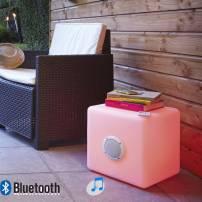 Cube lumineux led 40cm rechargeable enceinte bluetooth télécommande