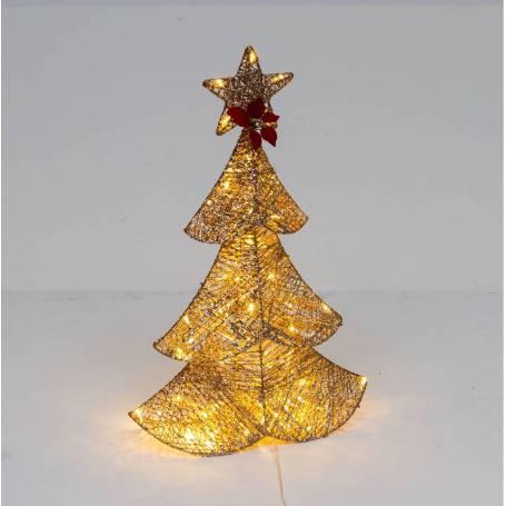 Sapin lumineux dorée 67CM 64 LED blanc chaud professionnel