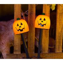 Pique de jardin lumineux Citrouille Halloween LED à piles professionnel