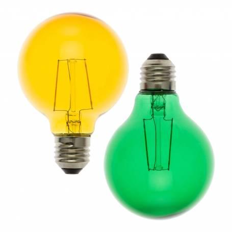 copy of Lot de 2 ampoules basse tension E27 rouge et bleu G80 mm professionnel