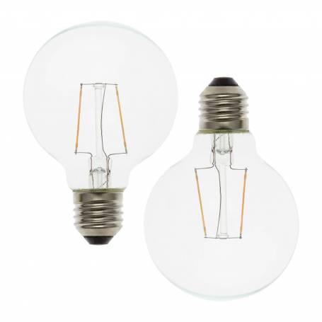 copy of Lot de 2 ampoules basse tension E27 jaune et verte G80 mm professionnel