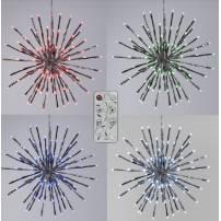 Boule lumineuse épis 120 LED RGB télécommande 40CM 18 programmes professionnel