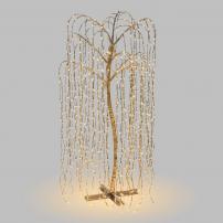 Arbre lumineux saule pleureur 2M 1024 LED blanc chaud branche tombante professionnel