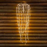 Branche lumineuse 95CM 240 LED blanc chaud structure argentée professionnel