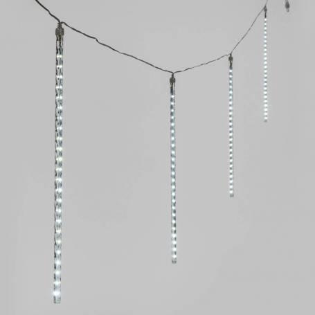 Stalactites lumineux LED effet chute de neige 50CM par 10 blanc froid professionnel