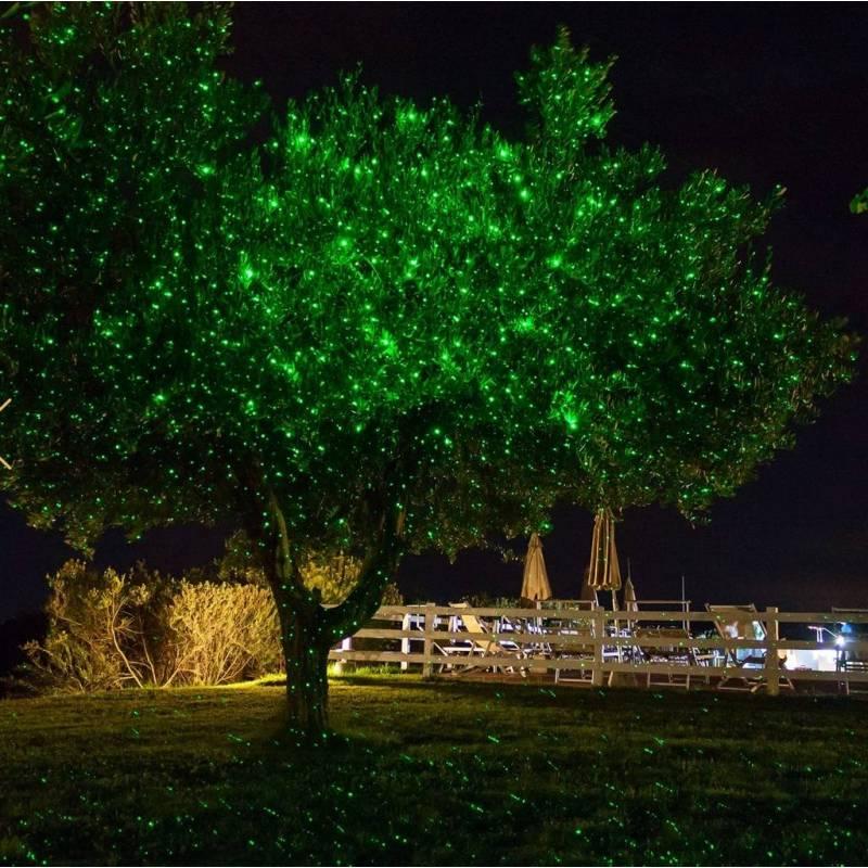 Projecteur LED laser point vert télécommande vitesse réglable professionnel
