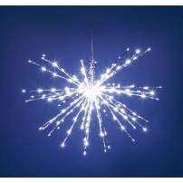 Boule lumineuse feu d'artifice 45 CM 8 programmes 160 LED blanc froid professionnel