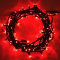 Guirlande lumineuse led 8 mètres Rouge câble vert