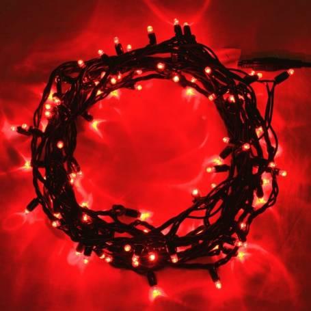 Guirlande lumineuse led 8 mètres Rouge câble vert professionnelle