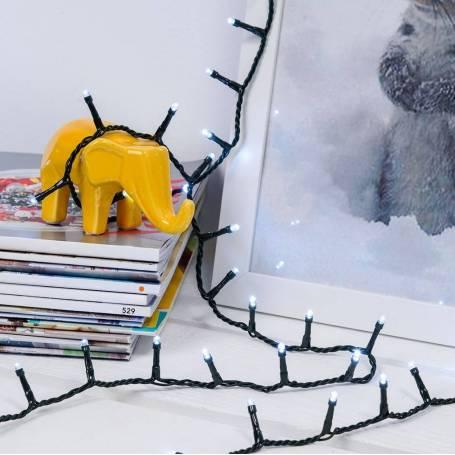 Guirlande led 36 mètres 900 led blanc Froid animées professionnel