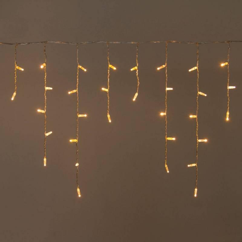 Guirlande stalactite LED 3M H60CM professionnelle blanc chaud raccordable professionnel