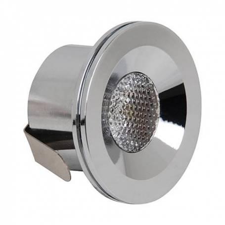 spot led encastrable rond chrome 3W blanc neutre 4200K professionnel