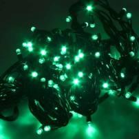 Guirlande lumineuse led Verte 8 mètres câble vert