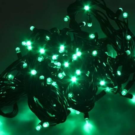 Guirlande lumineuse led 8 mètres verte câble vert professionnelle