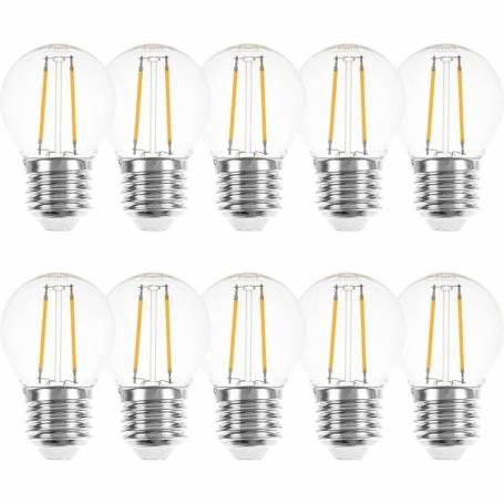 ampoules led filament 2W E27 2700K blanc chaud guinguette lot de 10 professionnel