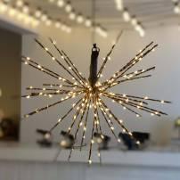 Boule lumineuse à branche 30CM 80 LED blanc chaud cuivre professionnel