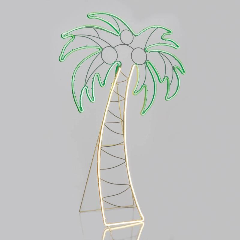 Lampe néon déco 21W palmier 120x78 cm 672 leds smd blanc chaud / rose professionnel