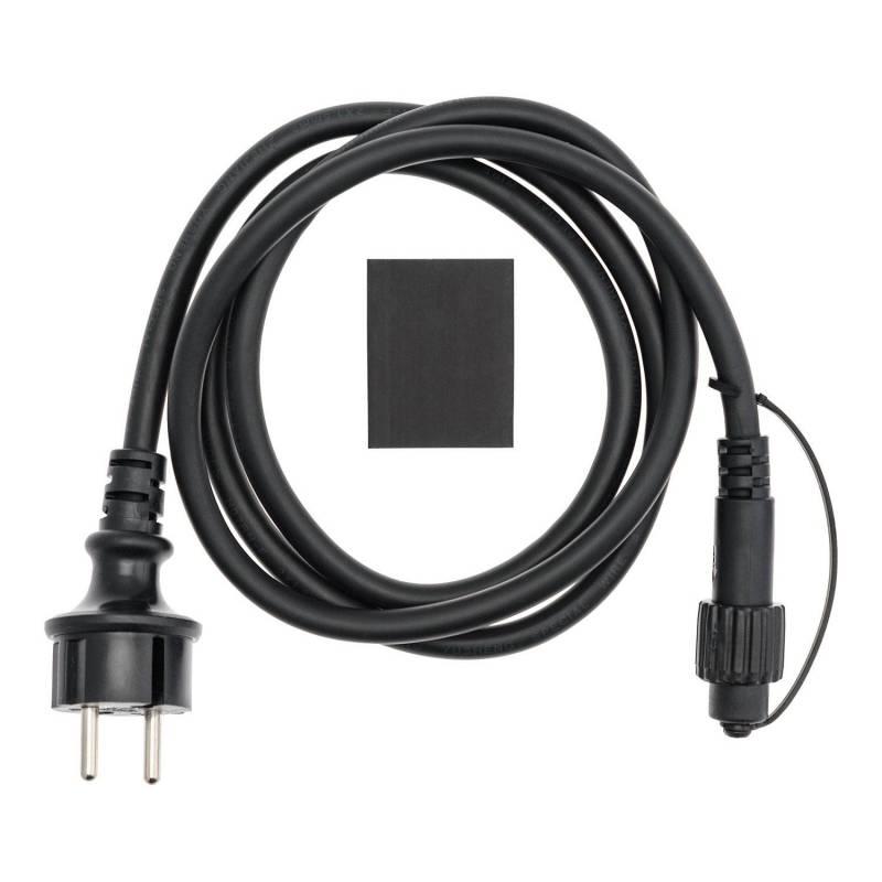 Câble d'alimentation noir 1.5M pour guirlande guinguette IP44 professionnel