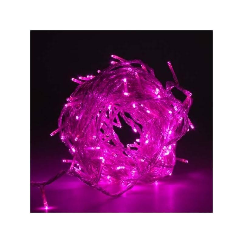Guirlande lumineuse led Rose 8 mètres câble Transparent