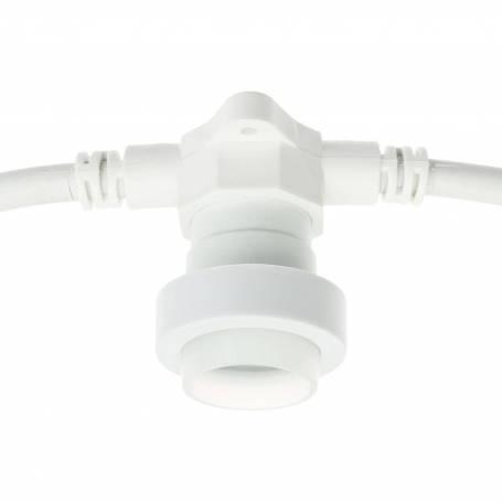 Guirlande guinguette câble blanc 5M 8 douilles E27 prolongeable IP44 ILLUPRO professionnel