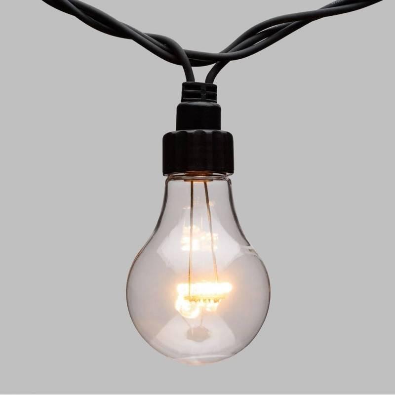Guirlande Guinguette 10M 20 ampoules transparentes blanc chaud connectable professionnel