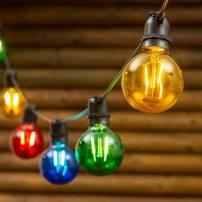 Guirlande Guinguette 10 ampoules G 80MM multicolore E27 36v basse tension professionnel
