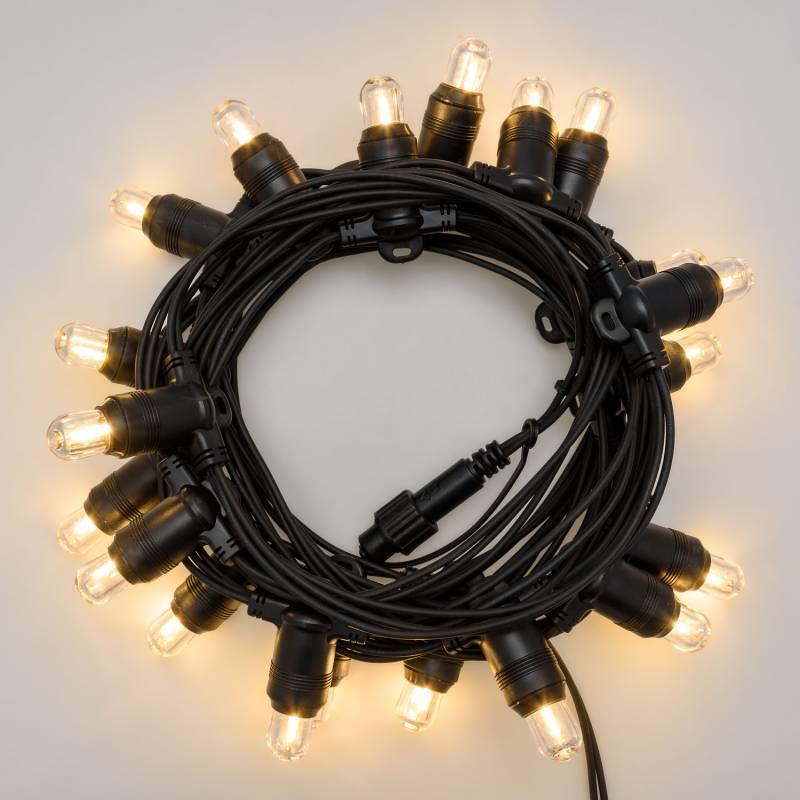 Guirlande Guinguette 6 metres 20 ampoules remplacables E14 blanc chaud connectable professionnelle professionnel