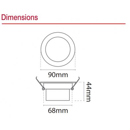 Spot encastrable rond dimensions