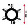 Connecteur étoile guirlande guinguette dimensions