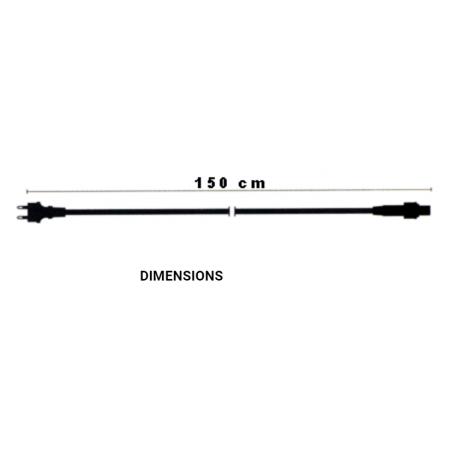Câble d'alimentation blanc guirlande guinguette dimensions