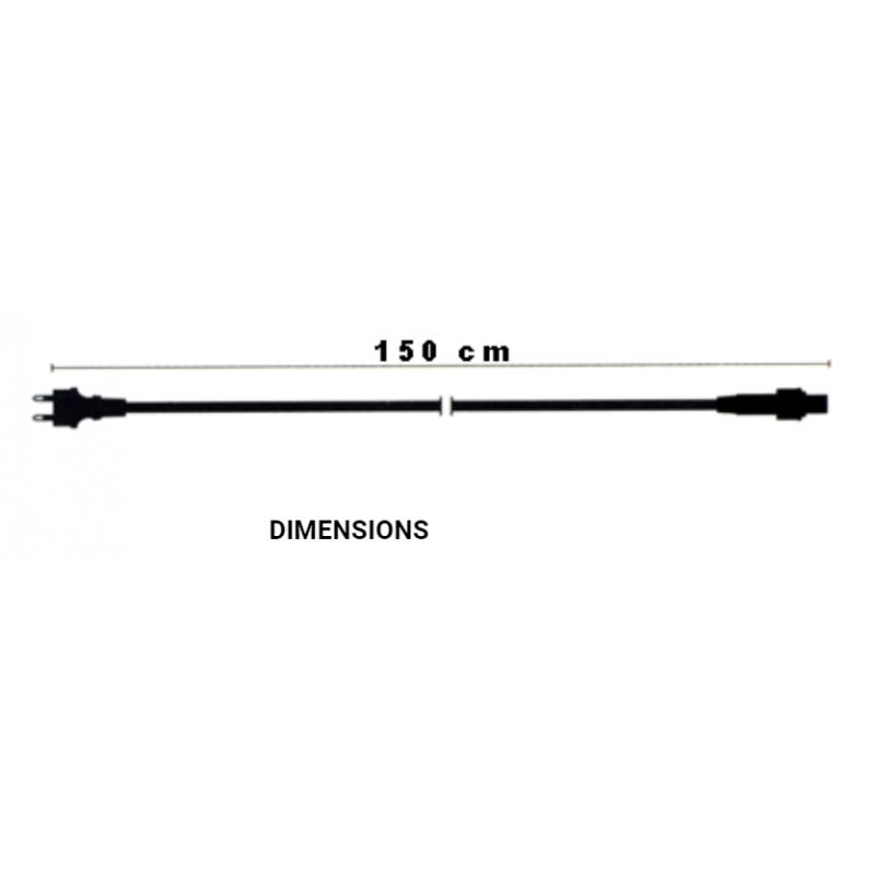 Câble d'alimentation noir guirlande guinguette dimensions