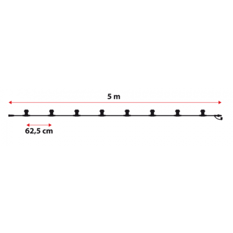 Guirlande guinguette blanc dimensions