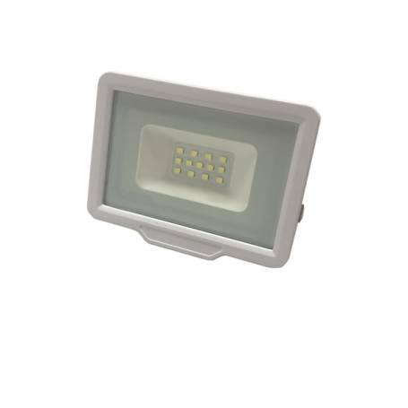 Projecteur 20W led blanc chaud extérieur IP65 corps blanc professionnel