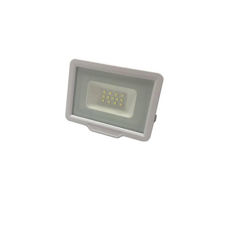 Projecteur 30W led plat blanc froid 6000k corps blanc professionnel