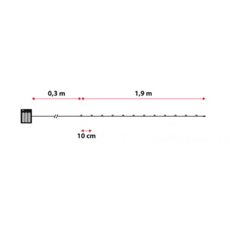 Guirlande lumineuse piles 2M dimensions