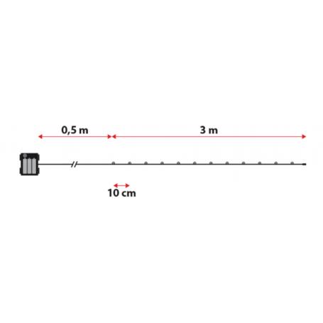 Guirlande piles extérieur 3 mètres flash étanches professionnel dimensions