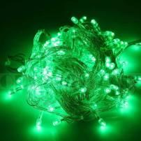 Guirlande lumineuse led 8 mètres verte câble Transparent