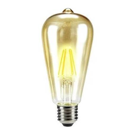 Ampoule led filament E27 conique 6 w blanc chaud