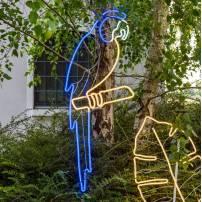 Lampe perroquet bleu / blanc chaud / blanc froid professionnel