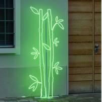 Lampe bambou couleur vert professionnel
